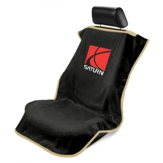 Seat Armour® - Black Towel Seat Cover with Saturn Logo
