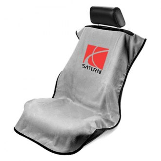 Seat Armour® - Gray Towel Seat Cover with Saturn Logo