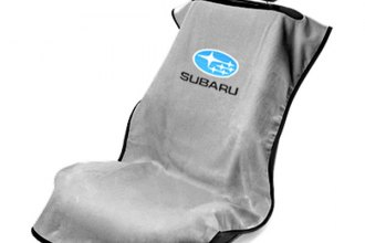Seat Armour® SA100SBRG - Gray Towel Seat Cover with Subaru Logo