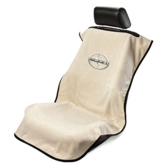 Seat Armour® - Tan Towel Seat Cover with Scion Logo