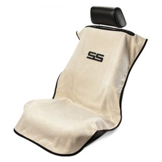 Seat Armour® - Tan Towel Seat Cover with Chevy Camaro SS Logo