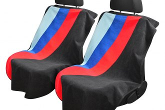 Seat Armour® - Black Towel Seat Cover with Three Stripe Logo
