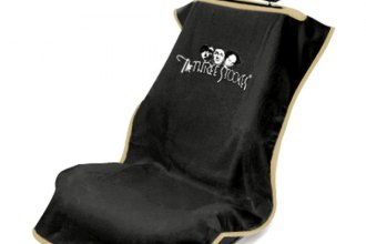 Seat Armour® - Black Towel Seat Cover with 3 Stooges Logo