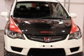 Image may not reflect your exact vehicle! SEIBON® - MG Style Carbon Fiber Mesh Grille Installed