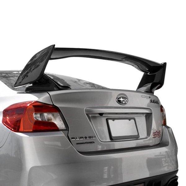 seibon subaru wrx 2015 sti style gloss carbon fiber rear spoiler seibon sti style gloss carbon fiber rear spoiler