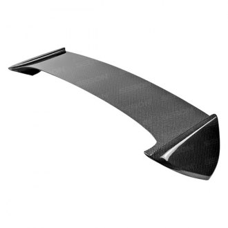 Seibon® - STI-Style Carbon Fiber Rear Roof Spoiler with Shaved Emblem