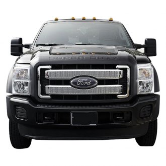 SES Trims® - 4-Pc Chrome Main Mesh Grille