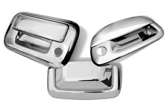 Image may not reflect your exact vehicle! SES Trims® - Chrome Tailgate Handle Cover