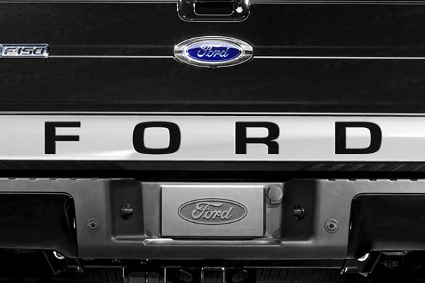 "SES Trims® - Chrome Lower Tailgate Accent with ""Ford"" Cut Out"