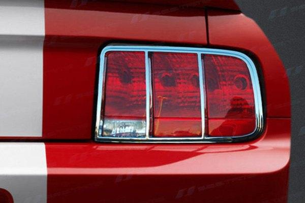 ses trims tl123 ford mustang 2006 chrome tail light bezels. Black Bedroom Furniture Sets. Home Design Ideas