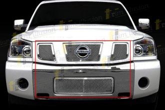 SES Trims® - Chromed Stainless Steel Main and Bumper Mesh Grille