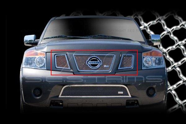 Ses Trims Mg183a Nissan Armada 2008 2015 Chrome Mesh Grille