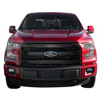 SES Trims® - 3-Pc Gloss Black Mesh Main Grille