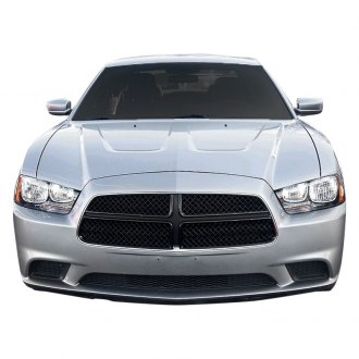 SES Trims® - 4-Pc Gloss Black Mesh Main Grille
