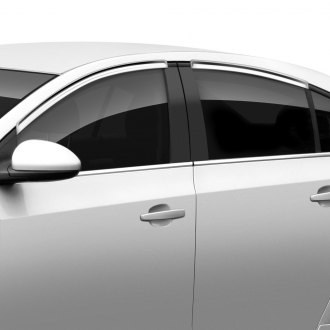 SES Trims® - Tape-On Chrome Front and Rear Window Visors