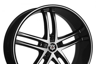 "SEVIZIA® - SE425 Black with Machined Face and Pinstripe (20"" x 8.5"", +35 Offset, 5x110 Bolt Pattern, 74.1mm Hub)"