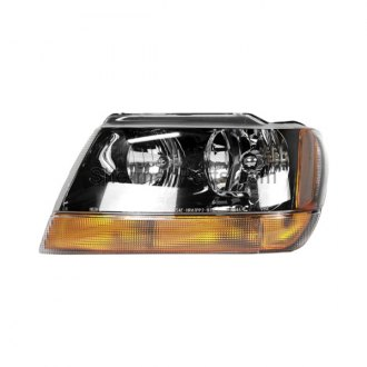 Sherman® - Driver Side Replacement Headlight With Black Bezel