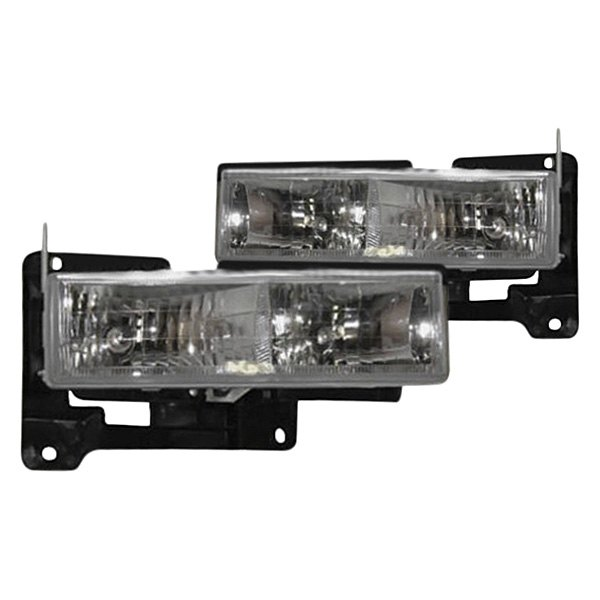 Sherman® - Driver and Passenger Side Chrome Euro Headlights