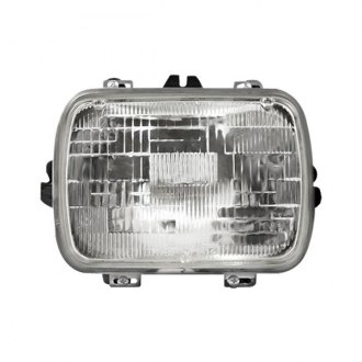 "Sherman® - Replacement 7x6"" Rectangular Chrome Sealed Beam Headlight"