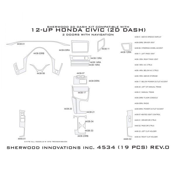 Sherwood® - 2D Dash Kit (19 Pcs)