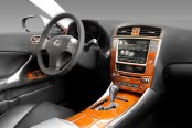 Sherwood® - Lexus IS250 Dash Kit in Golden Birds Eye Maple