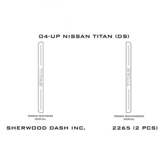 Sherwood® - Rear Stainless Door Sills