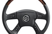 Sherwood® - Steering Wheel with Majestic Burl Inserts and Charcoal Leather