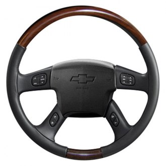 Sherwood® - Steering Wheel with Southern Cherry Inserts and Charcoal Leather