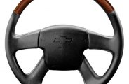 Sherwood® - Steering Wheel with Southern Cherry Inserts and Ebony Leather