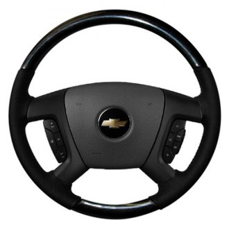 Sherwood® - Steering Wheel with Charcoal Cherry Inserts and Ebony Leather