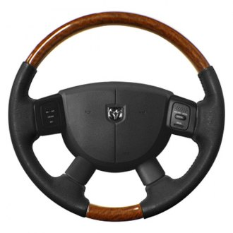 Sherwood® - Steering Wheel with Golden Sapele Factory Match Inserts and Medium Gray Leather