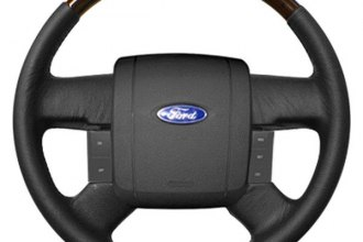 Sherwood® - Steering Wheel with Majestic Burl Inserts and Ebony Leather