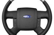 Sherwood® - Steering Wheel with Brushed Aluminum Inserts and Ebony Leather