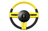 Sherwood® - Steering Wheel with Screaming Yellow Inserts and Ebony Leather