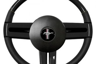 Sherwood® - Steering Wheel with Piano Black Inserts and Ebony Leather