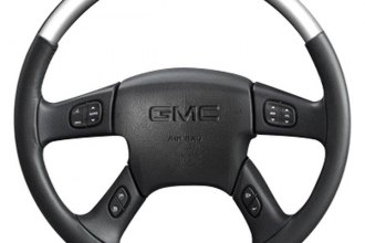 Sherwood® - Steering Wheel with Brushed Aluminum Inserts and Charcoal Leather