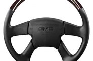 Sherwood® - Steering Wheel with Dark Cherry Inserts and Charcoal Leather