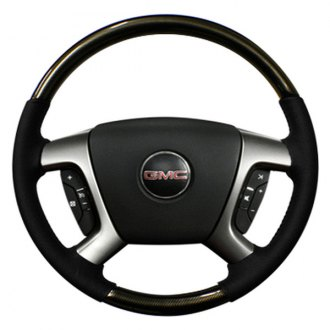 Sherwood® - Steering Wheel with Pewter Weave Inserts and Ebony Leather