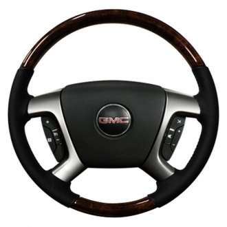 Sherwood® - Steering Wheel with Dark Burl Denali Factory Match Inserts and Light Titanium Leather