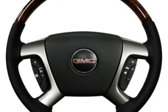 Sherwood® - Steering Wheel with Dark Burl Denaly Factory Match Inserts and Light Titanium Leather