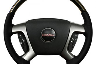 Sherwood® - Steering Wheel with Pewter Weave Inserts and Light Titanium Leather