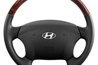Sherwood® - Steering Wheel with Majestic Burl Inserts and Royal Black Leather