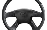 Sherwood® - Steering Wheel with Charcoal Cherry Inserts and Charcoal Leather