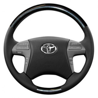 Sherwood® - Steering Wheel with Charcoal Cherry Inserts and Dark Charcoal Leather