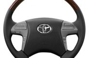 Sherwood® - Steering Wheel with Lavishwood Inserts and Dark Charcoal Leather