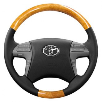 Sherwood® - Steering Wheel with Olive Wood Factory Match Inserts and Dark Charcoal Leather