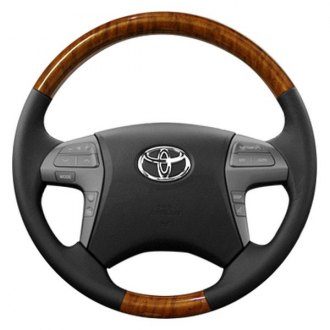 Sherwood® - Steering Wheel with Sunset Sapele Factory Match Inserts and Ash Leather