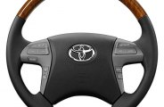 Sherwood® - Steering Wheel with Sunset Sapele Factory Match Inserts and Bisque Leather