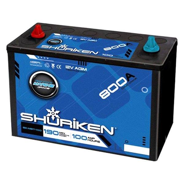 shuriken sk mbt 100 100 ah 12v 2000w agm starting battery. Black Bedroom Furniture Sets. Home Design Ideas
