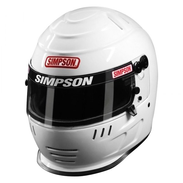Simpson® - Jr. Speedway Shark Fiber Reinforced Polymer White Racing Helmet, M Size
